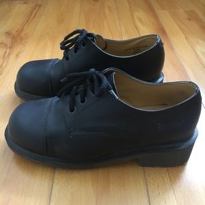 3ef39f4098b Dr. Martens Shoes - Dr Martens Leather Chunky Heel Oxfords Office Goth